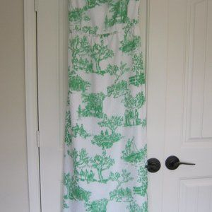 Lilly Pulizer Green White Strapless Maxi Patio